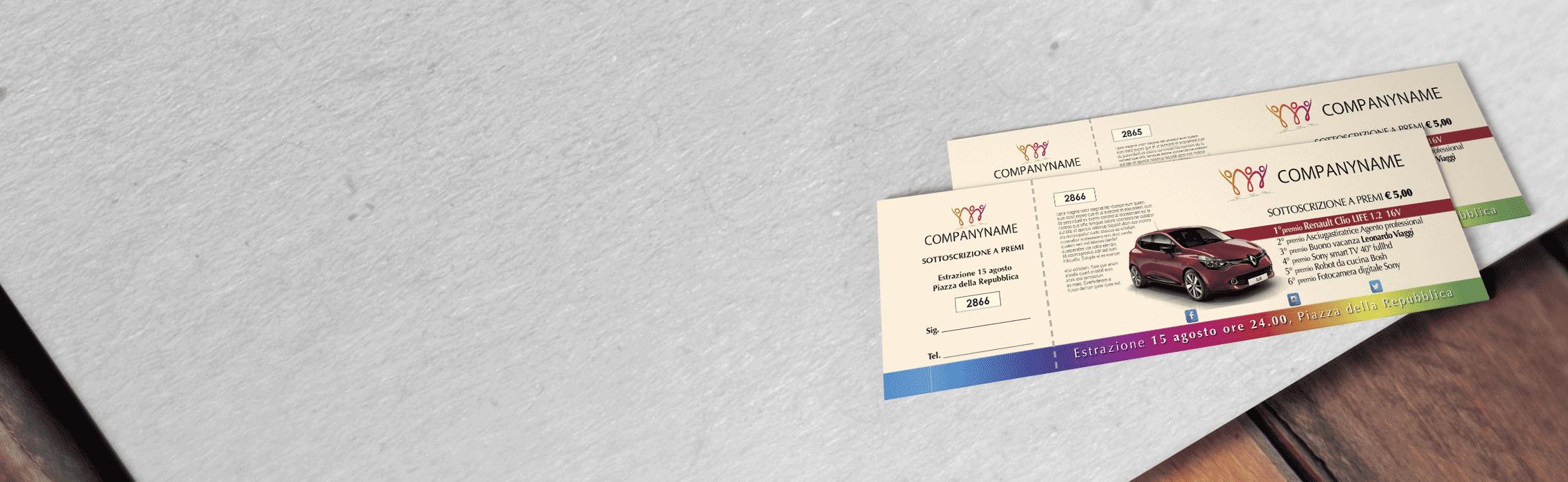 Biglietti sottoscrizione a premi