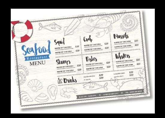 Tovagliette menu